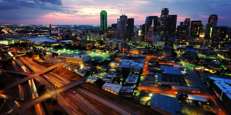 Dallas Skyline Sunset