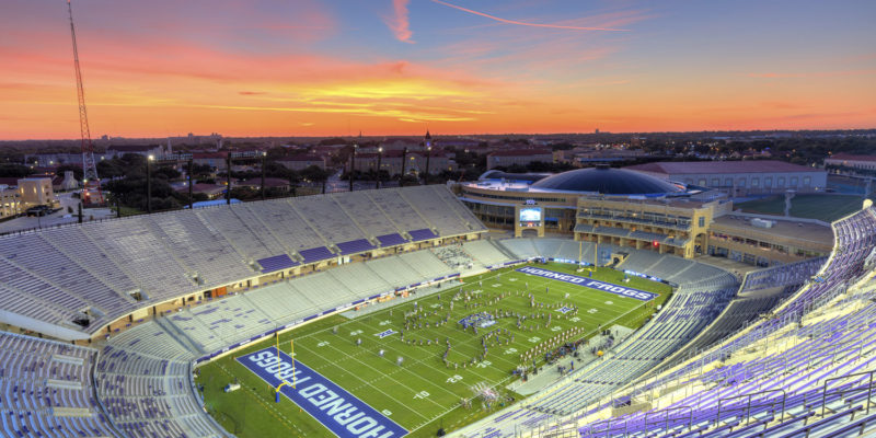 TCU Football Stadium Aerial Photo