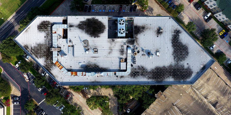 Commercial Roof Aerial Inspections- Dallas, TX