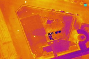 Thermal Imaging on Gravel Roof