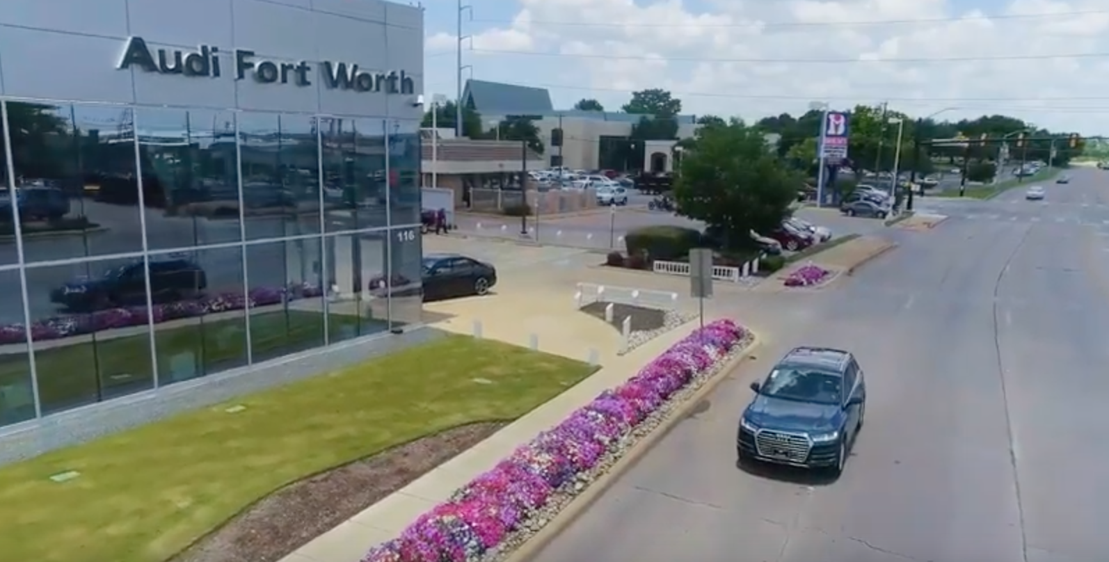 Using Drones For Images And Video Ft Worth TX - Audi car commercial
